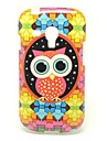 Colorful Owl Pattern IMD TPU Craft para Samsung Galaxy S3 Mini I8190
