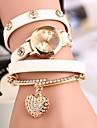 Мода обмотки браслет смотреть Ретро сердце кулон Студенческая Watch (разных цветов)