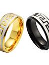 Fine grain and high quality titanium steel men\'s single ring