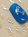 200шт сияющие звезды золотой металл ломтик ногтей украшения