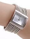 Женские Модные часы Часы-браслет Японский Кварцевый Медь Группа Блестящие Элегантные часы Люкс Серебристый металл Серебряный
