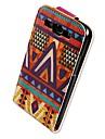 Pour Samsung Galaxy Coque Clapet Motif Coque Coque Integrale Coque Forme Geometrique Cuir PU pour Samsung S3