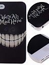 Cartoon Crazy Teeth Pattern Hard Case for iPhone 4/4S