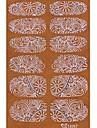 yemannvyou®2x14pcs imbuir 3d diamante transparente de renda branca Nail Art ultrafinos adesivos tz057