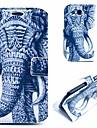 frais motif éléphant de tatouage pu étui en cuir couverture avec support pour les i9300 Samsung Galaxy S
