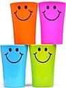 다기능 미소 얼굴 플라스틱 칫솔 컵 360ml (색상 랜덤)
