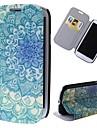 мультфильм цветы шаблон полный случай тела с подставкой кожаный чехол для Samsung Galaxy S3 i9300