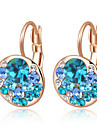 Earring Clip Earrings Jewelry Party / Daily / Casual Alloy / Zircon Champagne