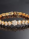belles or 18 k ms plaquage mosaique AAA de zircon bracelet or