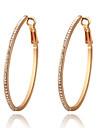Roxi Fashion Korean Single Austrian Crystal Golden Zircon Alloy Hoop Earring(1 Pair)