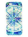 아이폰 4/4s를위한 푸른 나침반 패턴 하드 케이스