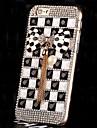 diamants de perles de cristal de luxe bowknot cas de couverture arriere pour iPhone 6