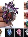 귀여운 모조 다이아몬드 드롭 꽃 브로치 브로치 핀 여성 파티 댄스 파티 보석 (더 많은 색상)