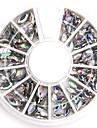 tamanhos mistos claras arte de unhas oval acrílico cristal de diamante reluzente falso para unhas