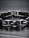 Homme Chaines & Bracelets bijoux de fantaisie Silicone Acier au titane Bijoux Pour Mariage Soiree Quotidien Decontracte Sports Regalos de