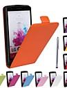 Pour Coque LG Antichoc Coque Coque Integrale Coque Couleur Pleine Dur Cuir PU pour LG LG G3 Autre