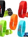 Women\'s Watch Unisex Digital Bracelet Sport Strap Watch Candy Color Wrist Watch Waterproof Dive LED Jelly Dress Clock Unique Watch Fashion Watch