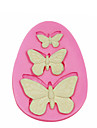 3 Hole Butterfly Silicone Mould Cake Decorating Silicone Mold For Fondant Candy Crafts Jewelry PMC Resin Clay