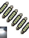 1.5W Guirlande Lampe de Decoration 4 SMD 5050 80-90lm lm Blanc Froid DC 12 V 6 pieces