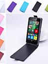 For Nokia Case Flip Case Full Body Case Solid Color Hard PU Leather Nokia Nokia Lumia 640