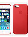 Pour iPhone 8 iPhone 8 Plus Coque iPhone 5 Etuis coque Autre Coque Arriere Coque Couleur unie Dur Vrai Cuir pour iPhone 8 Plus iPhone 8