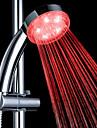 3 색 ABS 온도 감지 LED 색상 변화 손 샤워