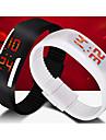 Муж. Спортивные часы Наручные часы Цифровой LED Календарь силиконовый Группа Черный Белый Синий Красный Оранжевый Коричневый Зеленый