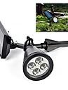 태양 광 센서 4-LED 스포트 라이트 야외 잔디 풍경 경로 방법 정원 램프