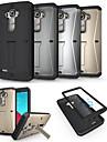 Pour Coque LG Antichoc Avec Support Coque Coque Integrale Coque Armure Dur Metal pour LG LG G4