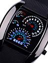 남성 스포츠 시계 손목 시계 석영 LED 스포츠 시계 실리콘 밴드 블랙 브라운