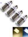 12W E14 / E26/E27 LED 콘 조명 T 138 SMD 4014 1200 lm 따뜻한 화이트 / 차가운 화이트 장식 AC 220-240 / AC 110-130 V 4개