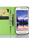 Для Кейс для  Samsung Galaxy со стендом / с окошком Кейс для Чехол Кейс для Один цвет Искусственная кожа SamsungS6 Active / S5 Mini / S5