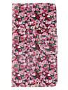 Для Samsung Galaxy Note Кошелек / Бумажник для карт / со стендом / Флип Кейс для Чехол Кейс для Цветы Искусственная кожа Samsung Note 4