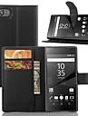 elegante pu carteira leahter coldre tampa do caso para Sony Xperia z5 compactos (cores sortidas)