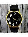 Женские Модные часы Фаза луны Кварцевый Кожа Группа Черный Коричневый