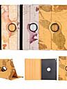 fonction de support de conception carte du monde 360⁰ cas de haute qualite PU sac en cuir pour iPad 4/3/2