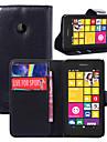 Pour Coque Nokia Portefeuille Porte Carte Avec Support Coque Coque Integrale Coque Couleur Pleine Dur Cuir PU pour Nokia Nokia Lumia 530