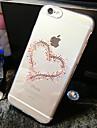 Для Кейс для iPhone 6 / Кейс для iPhone 6 Plus Прозрачный / С узором Кейс для Задняя крышка Кейс для С сердцем Мягкий TPUiPhone 6s Plus/6