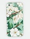 iphone 7 mais lírio padrão de brilho TPU tampa traseira branca macia para iPhone 5 / 5s