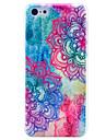 아이폰 5C를위한 아름 다운 만다라 꽃 패턴 하드 커버 케이스