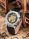 Муж. Наручные часы Механические часы С автоподзаводом Кожа Группа Черный Коричневый