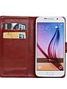 Для Кейс для  Samsung Galaxy Бумажник для карт / со стендом / Флип / Поворот на 360° Кейс для Чехол Кейс для Один цвет Искусственная кожа
