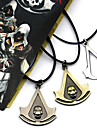Jewelry Inspired by Assassin\'s Creed Connor Anime/ Video Games Cosplay Accessories Necklace Black / Yellow / Silver Alloy Male