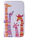 iPhone 7 Plus Color Giraffe Painted PU Phone Case for iPhone 6s 6 Plus SE 5s 5c 5 4s 4
