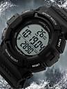 SKMEI® Men\'s Pedometer LCD Digital Rubber Band Sports Watch Cool Watch Unique Watch
