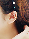 Women\'s Korean Fashion Hollow Alloy Stars Pattern No Hole Single Ear Clip Earrings