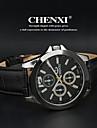 CHENXI® Hommes Montre Bracelet Quartz Quartz Japonais Cuir Bande Noir Blanc Noir
