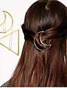 European Style Fashion Triangular Moon Geometric Modeling Hairpin