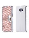 Luxury Bling Crystal & Diamond PU Leather Flip Bag For Samsung Galaxy S3/S4/S5/S6/S6E/S7/S6E Plus