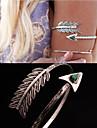Bijoux de Corps Bracelet de Bras Original Mode Bijoux Plume Paon Argent Bijoux Regalos de Navidad 1pc